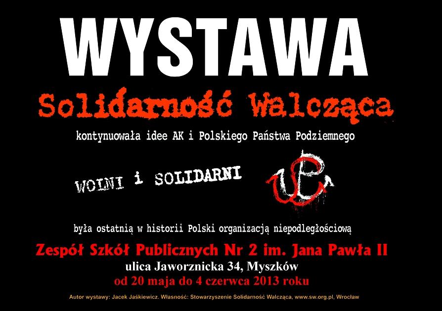 """Wystawa """"Solidarność Walcząca"""""""