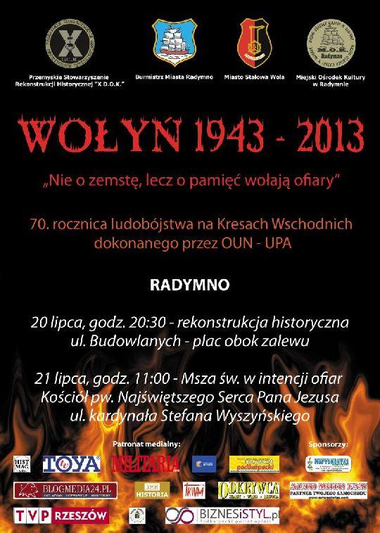 Dwudniowe obchody 70. rocznicy ludobójstwa na Kresach Wschodnich