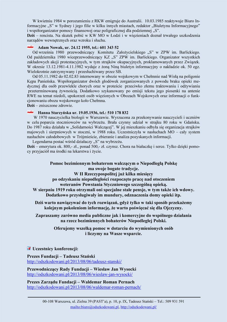 Zaproszenia na konferencje
