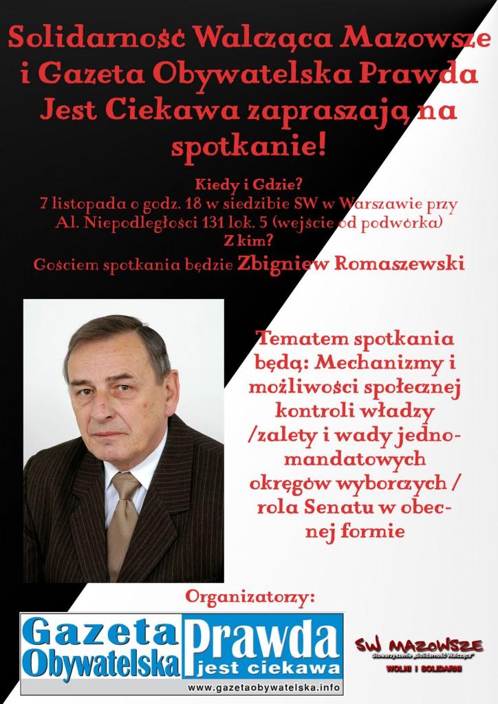 Zbigniew Romaszewski - spotkanie w siedzibie SW Mazowsze