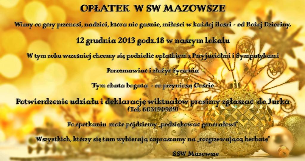 Opłatek w SW Mazowsze