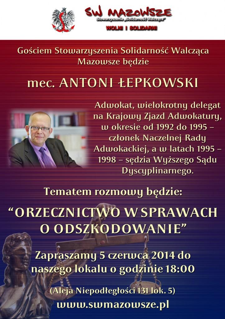 Antoni Łepkowski, zaproszenie 05.06.2014
