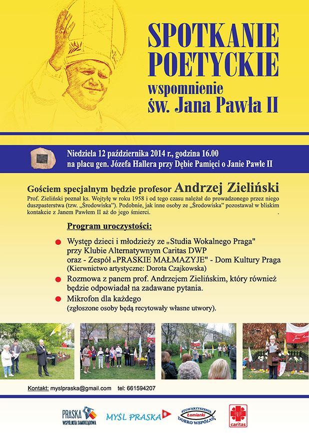 Spotkanie Poetyckie wspomnienie Św. Jana Pawła II