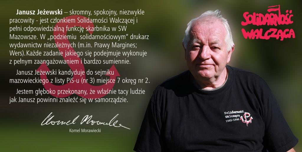 Janusz Jeżewski - kandydat do sejmiku wojewódzkiego
