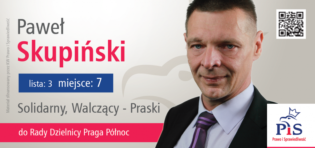 Paweł Skupiński - kandydat do Rady Dzielnicy Praga Północ