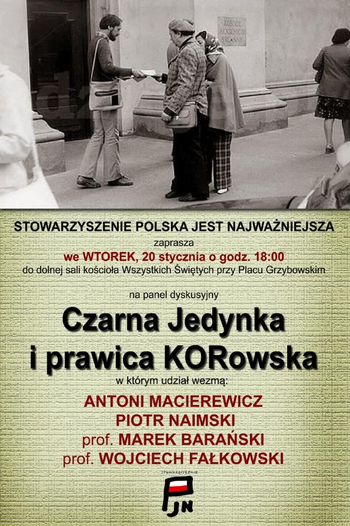 Czarna Jedynka i prawica KOR-owska