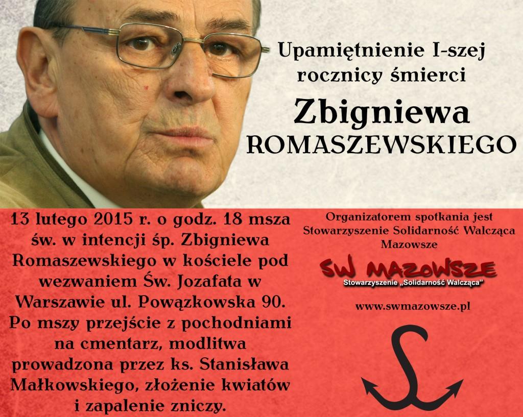 Zbigniew Romaszewski - rocznica śmierci