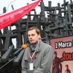 Narodowy Dzień Pamięci Żołnierzy Wyklętych. 27.02.2016 Pomnik Poległym i Pomordowanym na Wschodzie. Fot. Grzegorz Boguszewskir_058