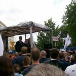 Żądamy uchwalenia  11 Lipca Dniem Pamięci Ofiar Ludobójstwa na Kresach. Fotorelacja Andrzeja Szrajnera z manifestacji pod Sejmem w dniu 7 lipca_001