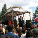 Żądamy uchwalenia  11 Lipca Dniem Pamięci Ofiar Ludobójstwa na Kresach. Fotorelacja Andrzeja Szrajnera z manifestacji pod Sejmem w dniu 7 lipca_023