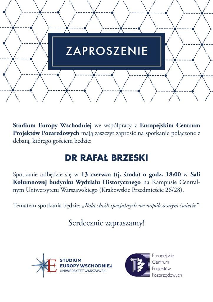 Rafał Brzeski - zaproszenie
